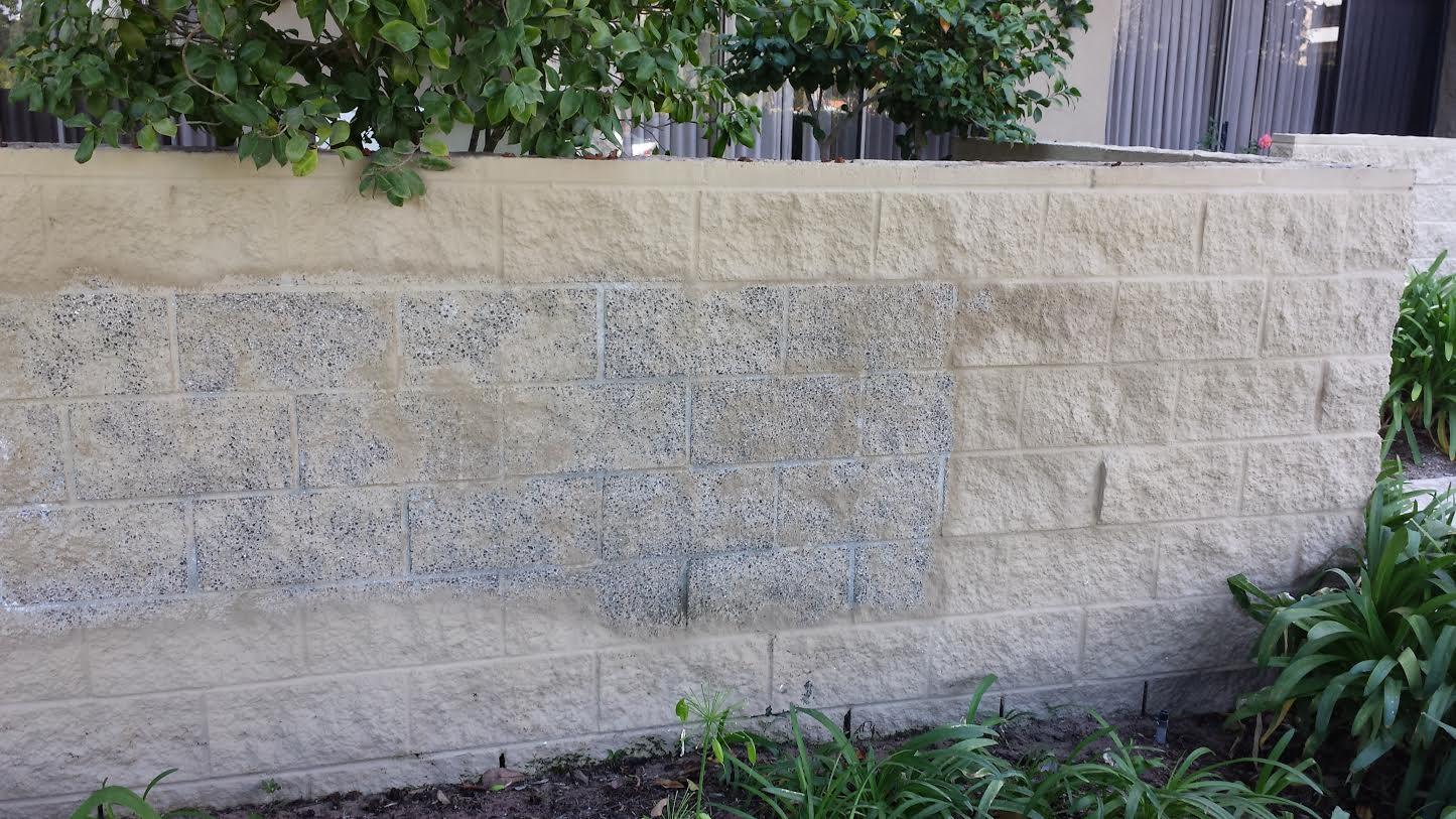 Vapor blasted wall