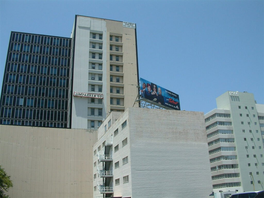 6380 and 6399 Wilshire Blvd - painted by Parker