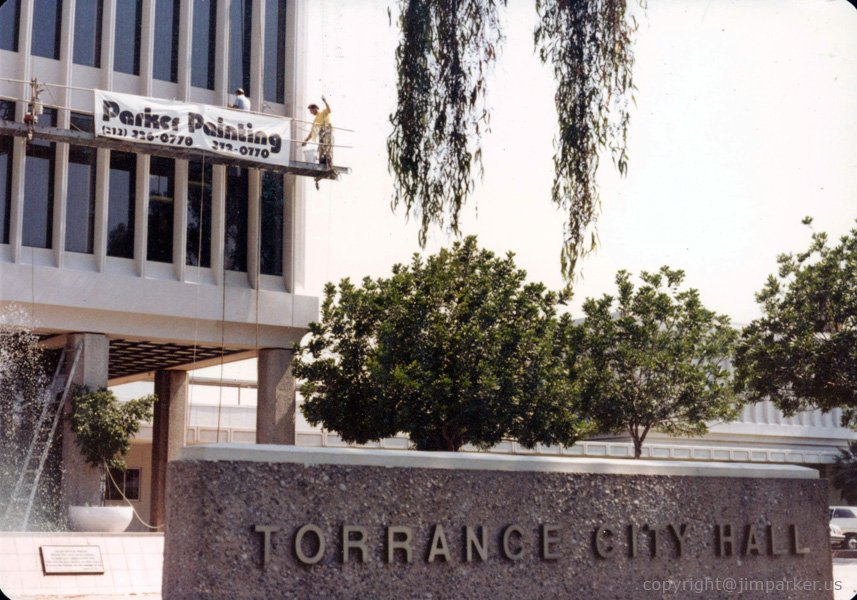 Torrance City Hall painting projecct