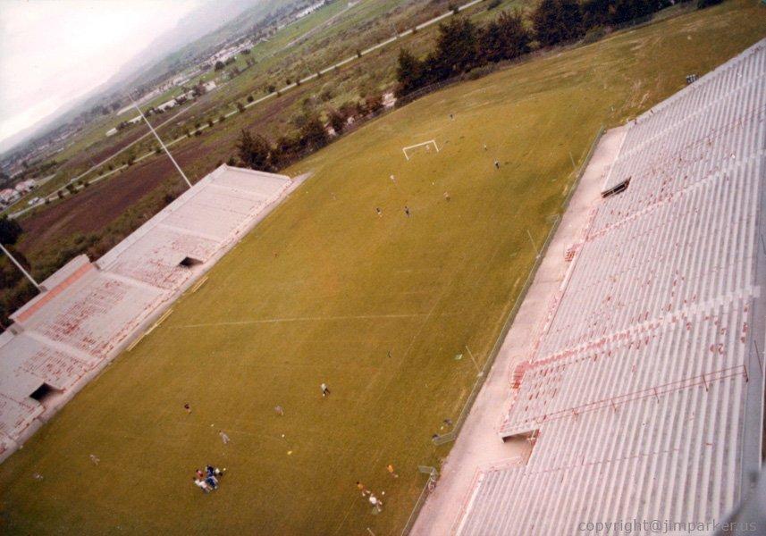 Steel Stadium painting job at UCSB