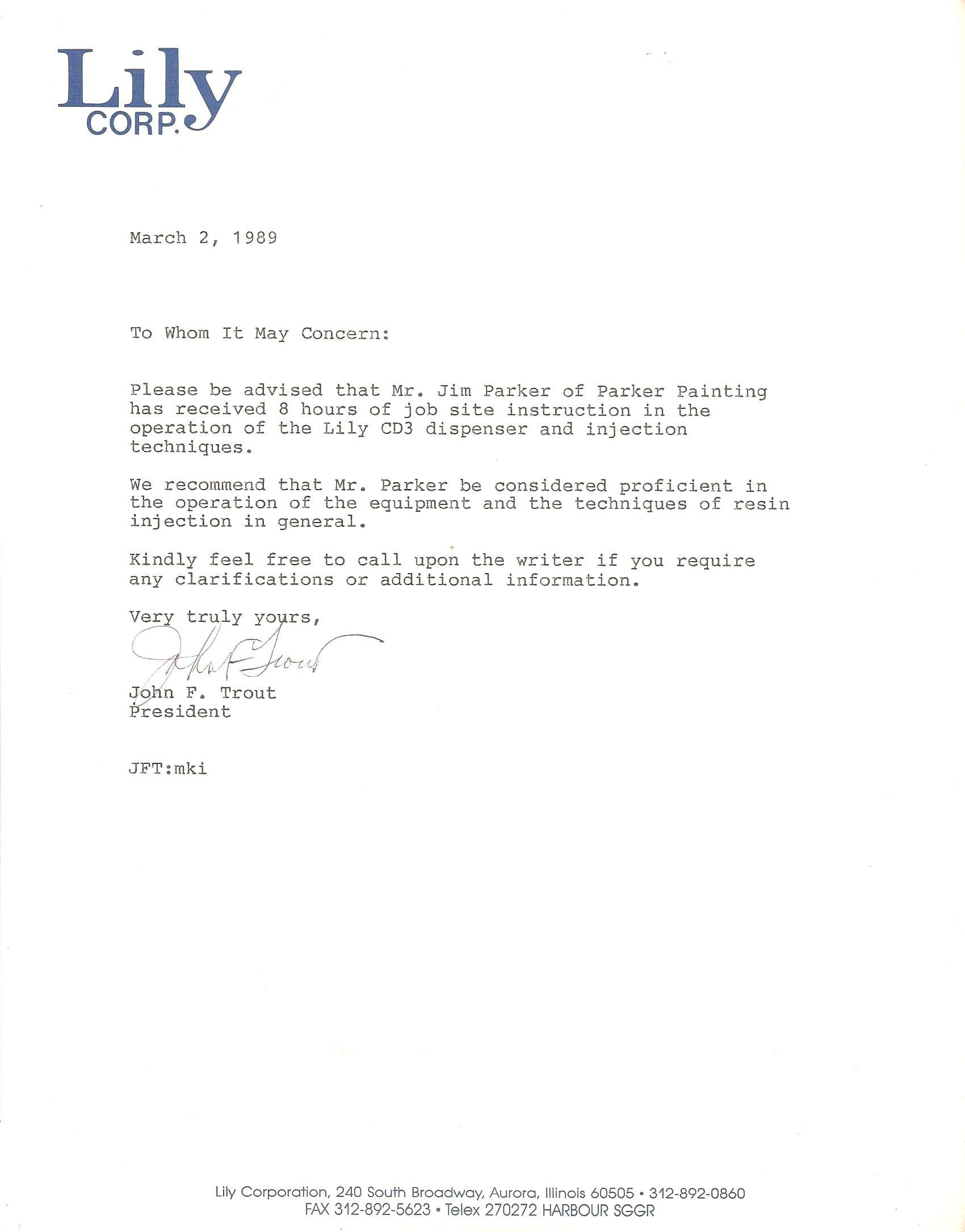 Lily Corp document