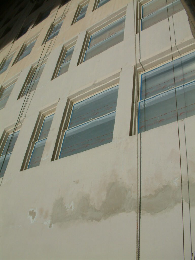Oviatt Building - Completed Spall Repair - Windows Masked
