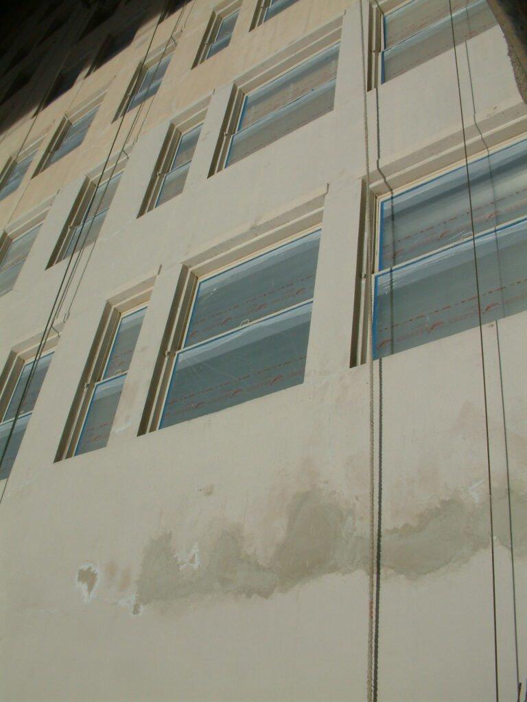 Oviatt Building - Completed Spall Repair - Windows Masked