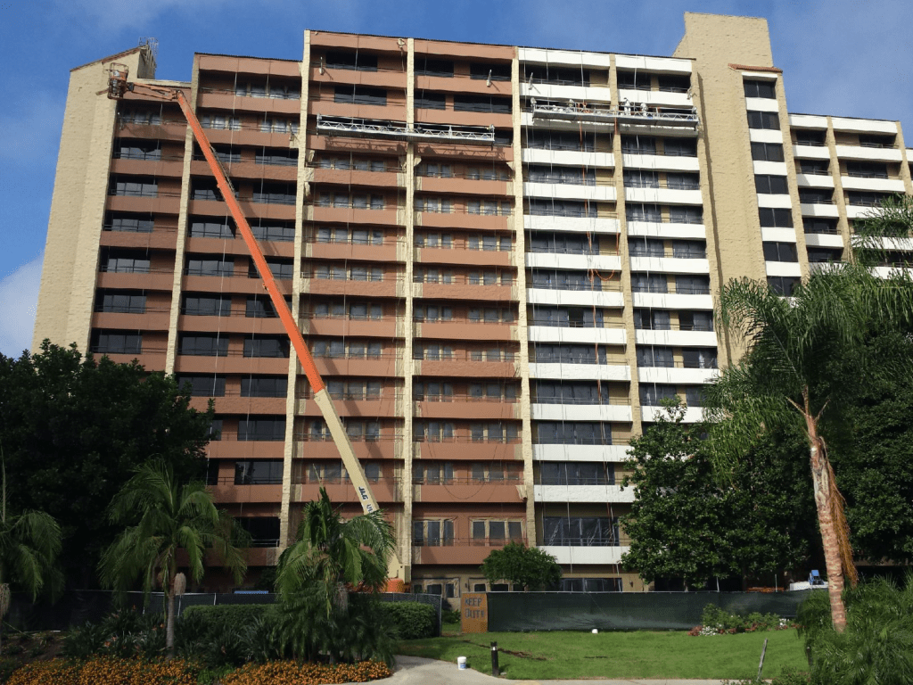 Towers and boom lift