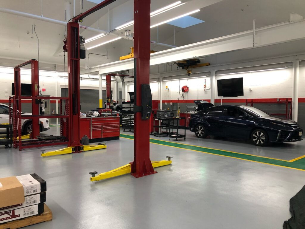 Toyota Tech Center Fuel Cell room