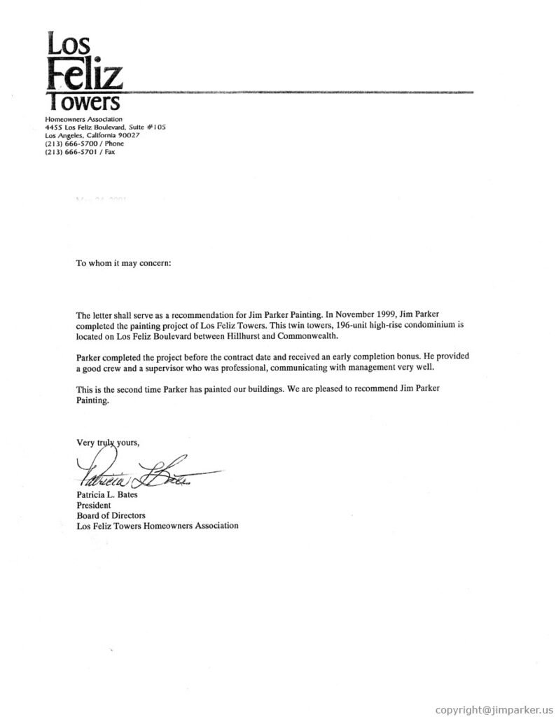 Los Feliz Towers Business Referrals