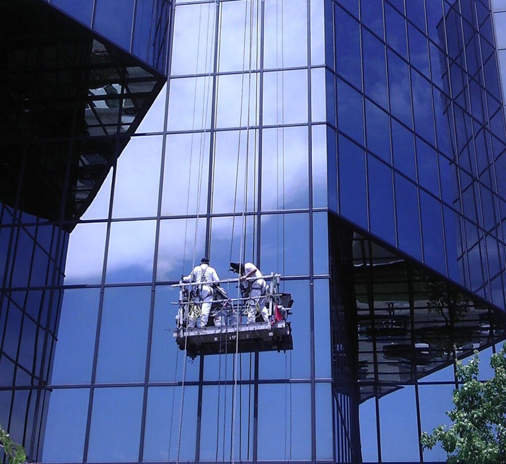 glass to metal Irvine painters