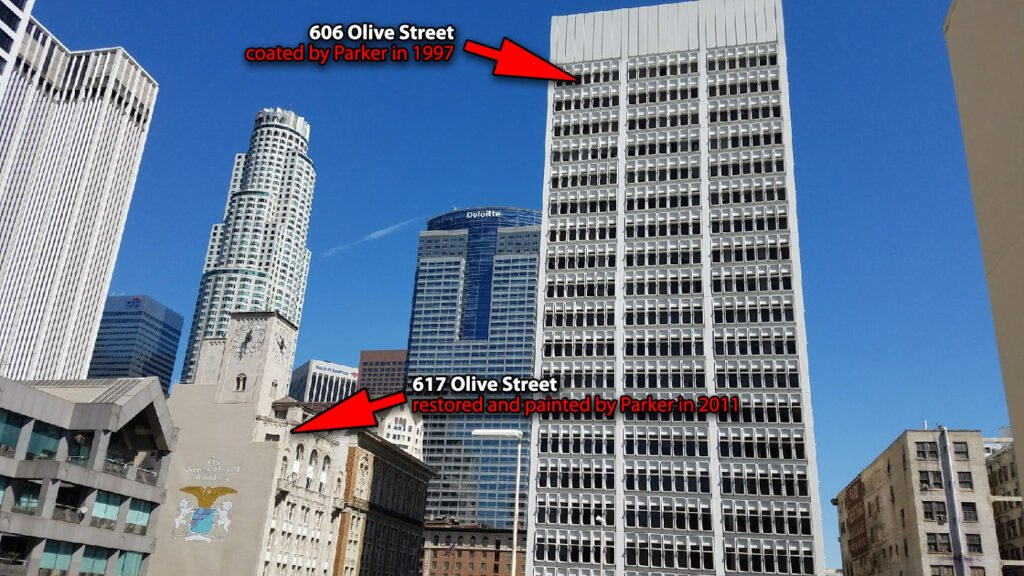 Olive Street high rise painting