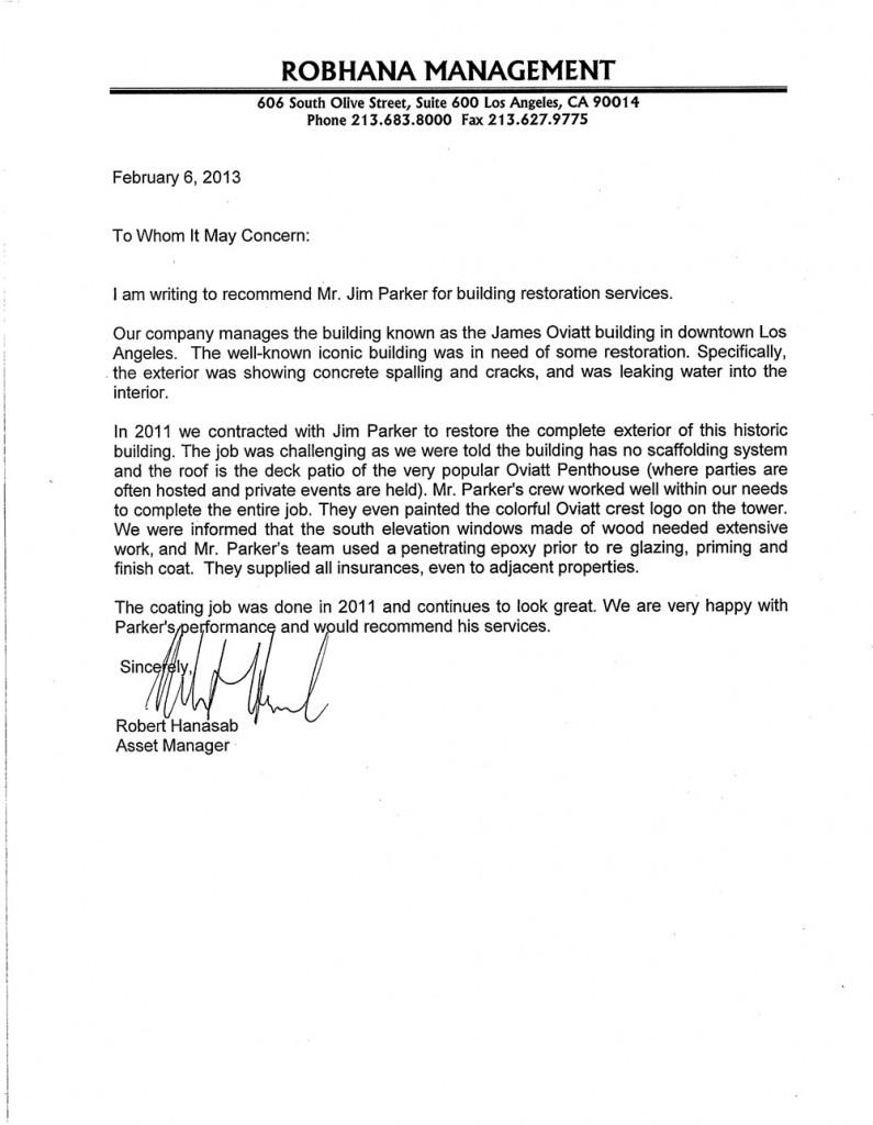 Oviatt-reference letter