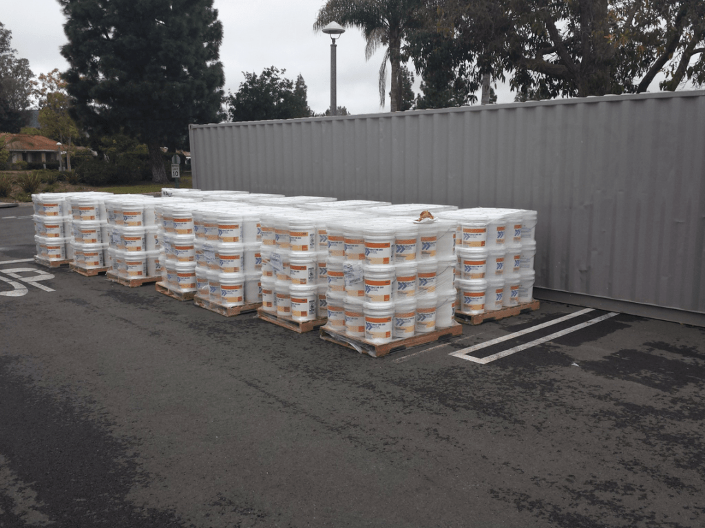 pallets of coating