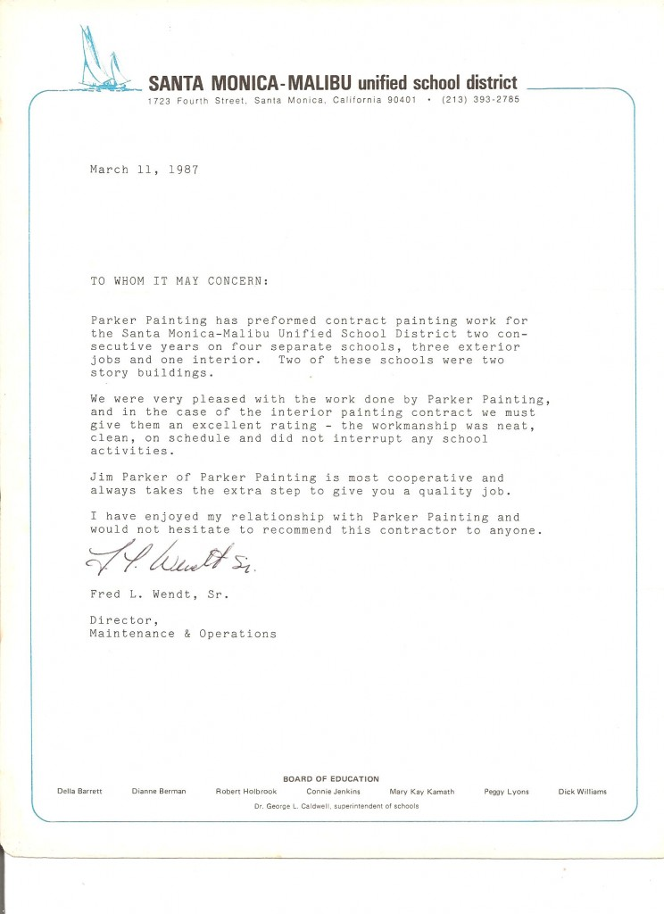 SMMUSD Business Referral letter