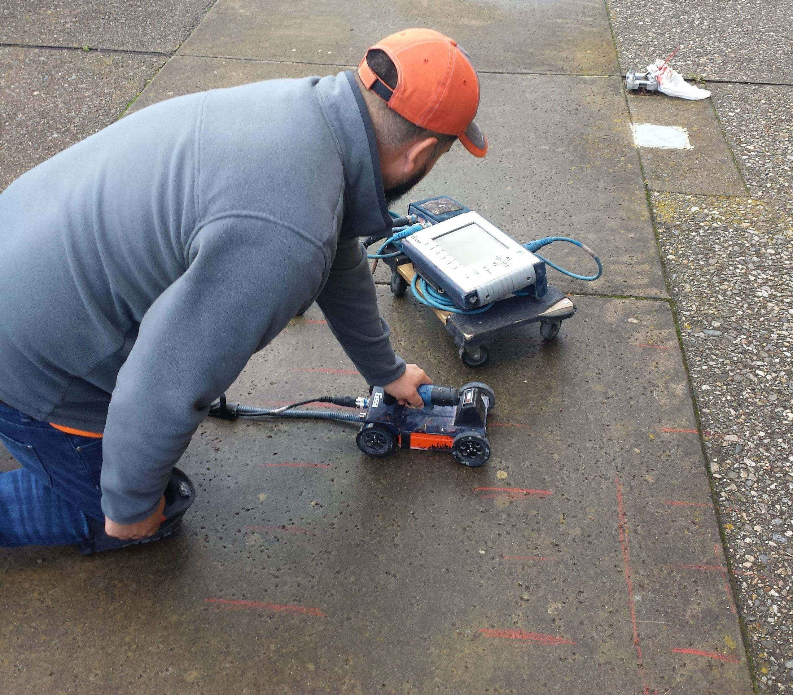 x ray marking for steel rebar in decks
